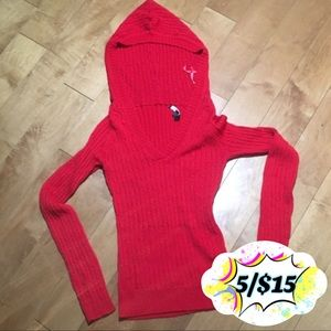 💟☮️☯️Red Cable Knit Hoodie☯️☮️💟